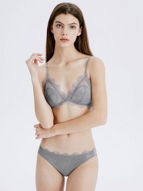 French Triangle Cup Sexy Lace Rra Set - bohosecret