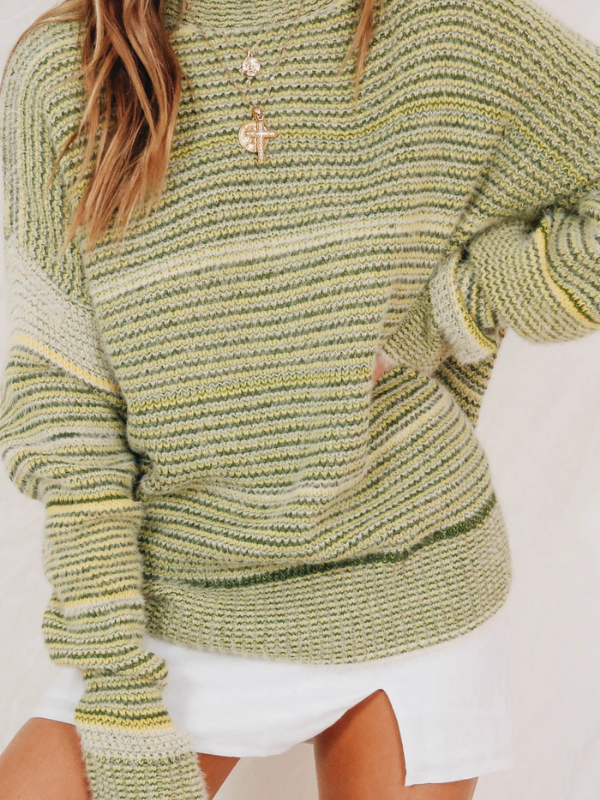 Pullover Loose Striped Chic Sweater - bohosecret