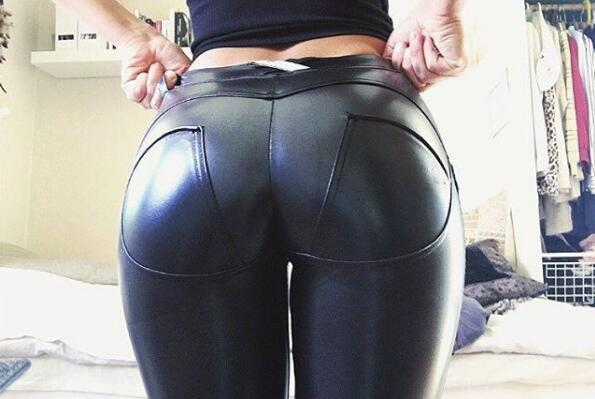 Plus Sizes PU Leather Pants - bohosecret