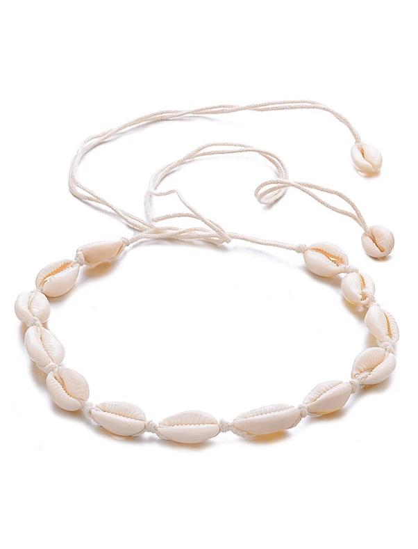 Simple Natural Shell Adjustable Beach Seaside Clavicle Chain - bohosecret