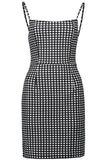 Summer Women Backless Strap boho Bodycon Plaid Dress - bohosecret
