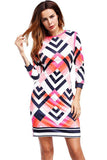 Women Printed Slim Runway Tunic Sheath  Bodycon Elegant Dress - bohosecret