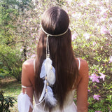 Bohemian Feathers Gypsy Hippie Peacock Hair Accessories - bohosecret