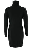 Women Long Sleeve Turtleneck Bodycon Dress - bohosecret