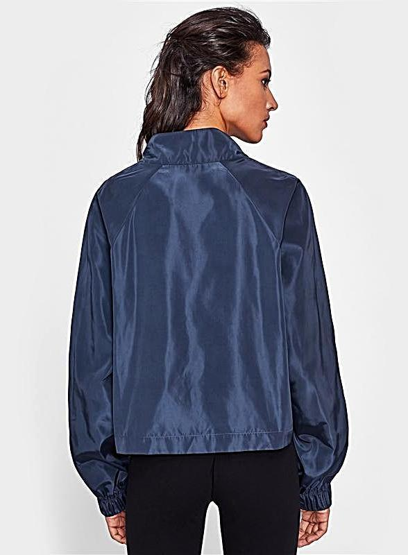 Raglan Sleeve Windbreaker Jackets Navy Stand Collar - bohosecret