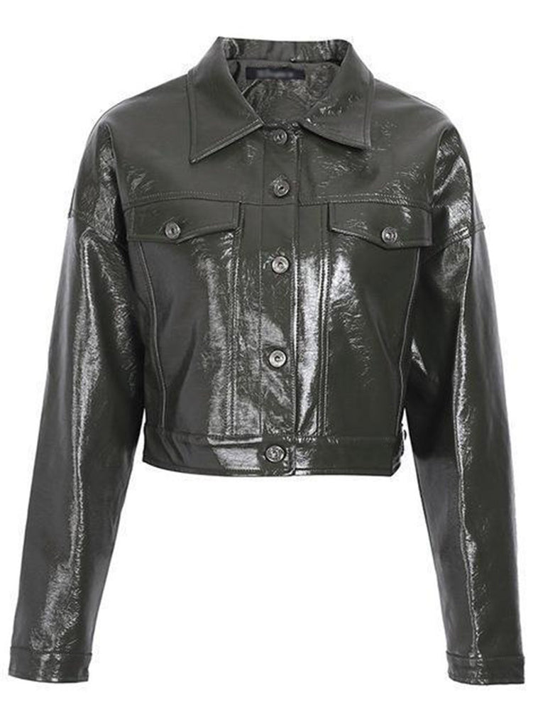 Classic Moto Biker/Racer Faux Leather Jacket - bohosecret
