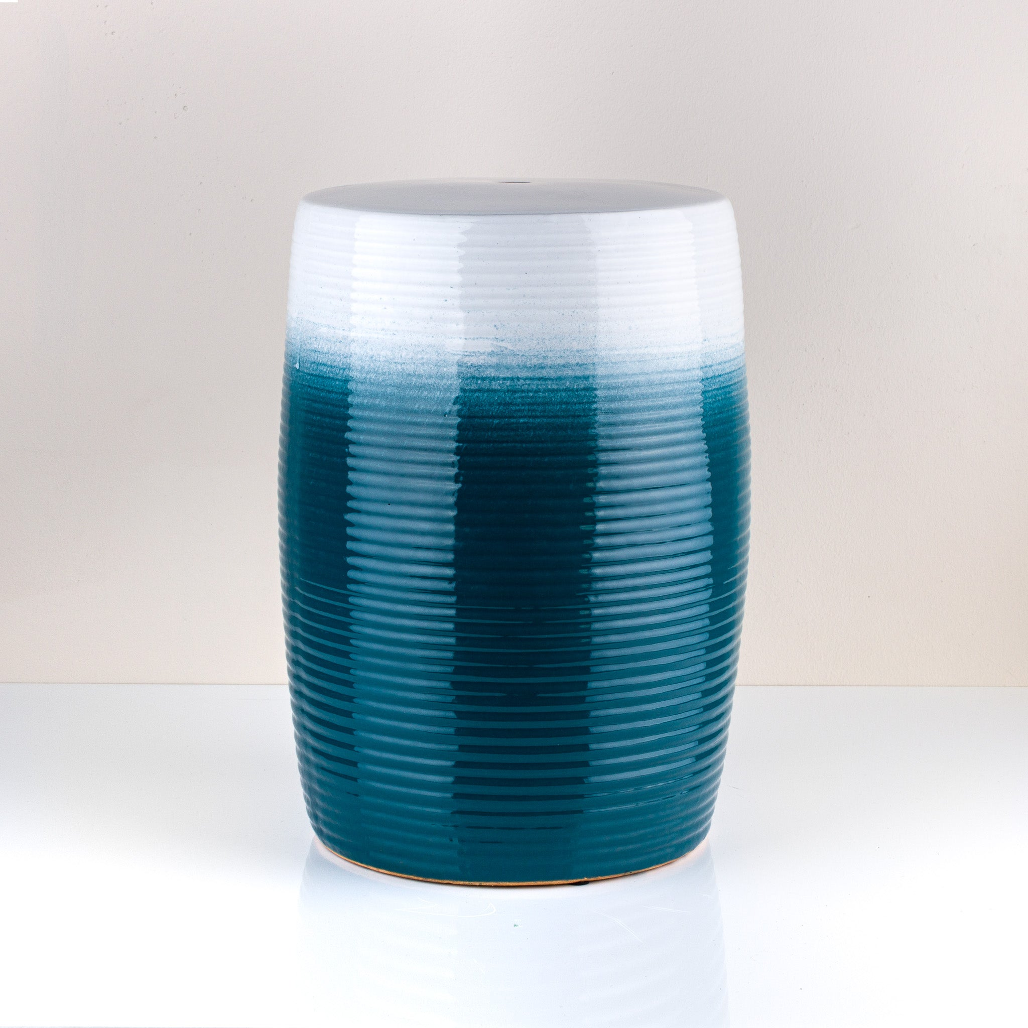 Blue Ceramic Stool