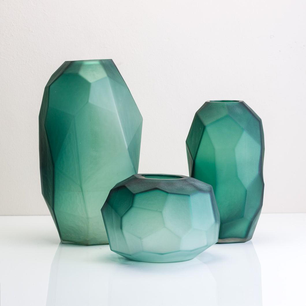 Hexagon Glass Vase