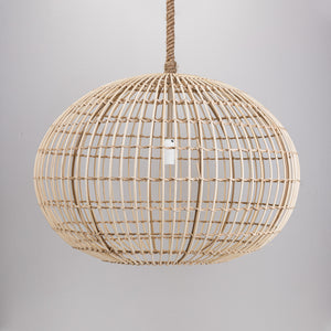 Round Wicker Pendant