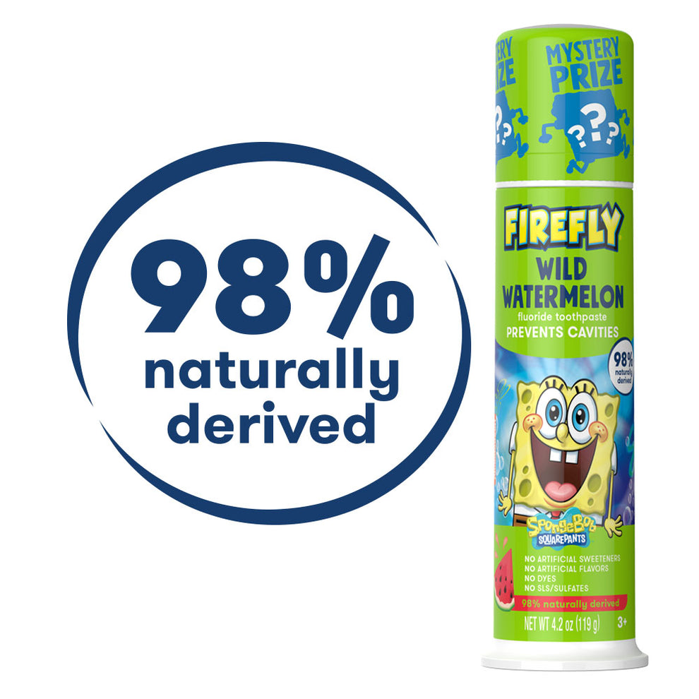 Firefly Natural Anticavity Fluoride Toothpaste - SpongeBob SquarePants
