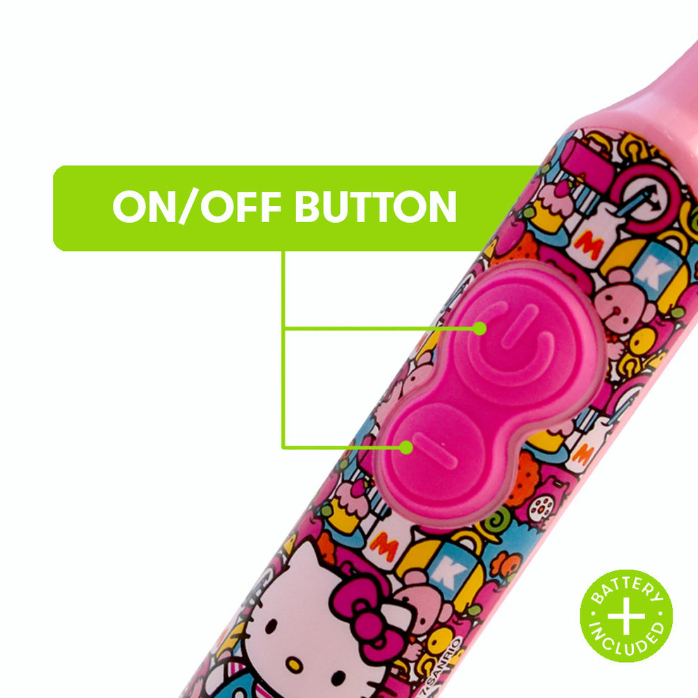 Firefly Clean N' Protect™ Hello Kitty Power Toothbrush With Antibacterial Cover
