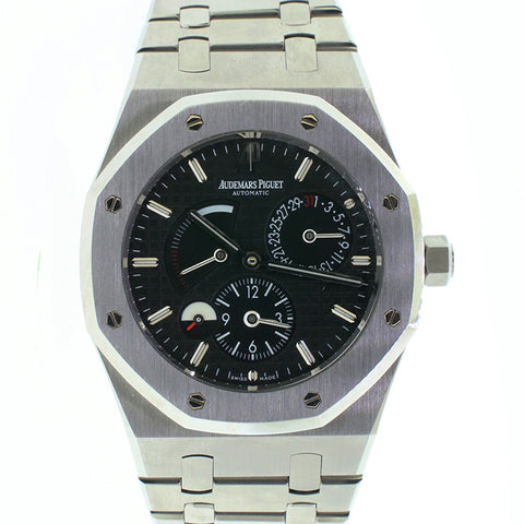 Audemars Piguet Royal Oak Dual Time Black Dial Box & Papers 26120st.oo.1220st.03