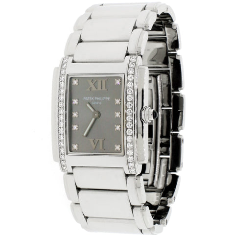 Patek Philippe Twenty-4 Factory Diamond Dial & Diamond Bezel Stainless Steel Ladies Watch 4910-10A-010
