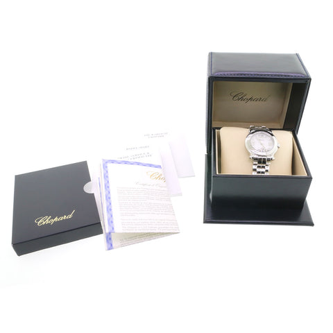 UNWORN Chopard Happy Sport Stainless Steel Ladies Watch 27/8477-3001 w/Box&Papers