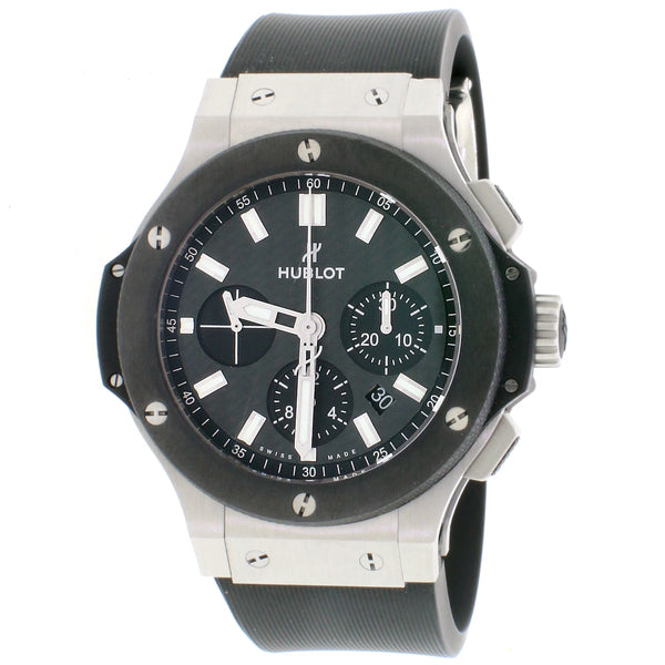 Hublot Big Bang 44MM Black Carbon Index Dial Chronograph Automatic Mens Watch 301.SM.1770.RX