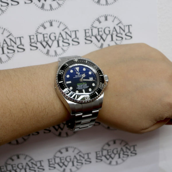 Rolex Sea-Dweller DeepSea James Cameron 44mm Ceramic Bezel D-Blue Dial Automatic Stainless Steel Mens Oyster Watch 116660