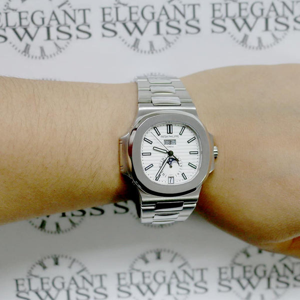 Patek Philippe Complications Nautilus Annual Calendar 41mm Automatic Steel Watch 5726/1A-010 Box Papers