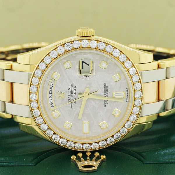 Rolex Day-Date Tridor Masterpiece Factory Meteorite Diamond Dial & Diamond Bezel Watch 18948