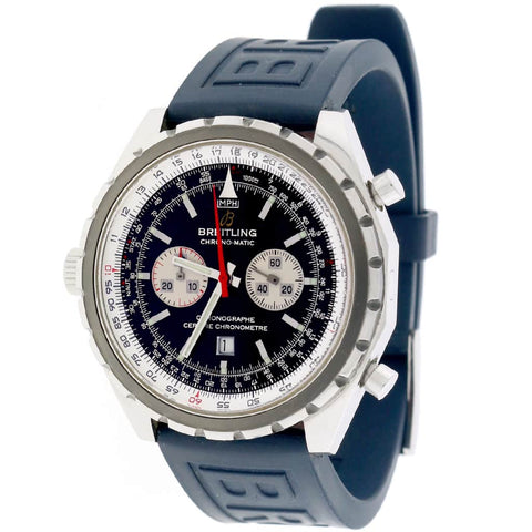 Breitling Chono-Matic 44MM Chronograph Automatic Stainless Steel Mens Watch A41360
