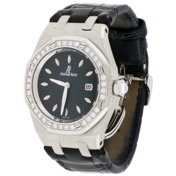 Audemars Piguet Royal Oak Lady Factory Diamond Bezel 33mm Black Dial Stainless Steel Watch 67601ST.ZZ.D002CR.01