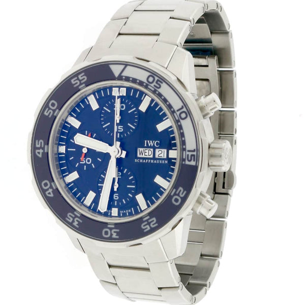 IWC Aquatimer Chronograph Day Date Blue Dial Automatic Stainless Steel 44MM Mens Watch IW376711
