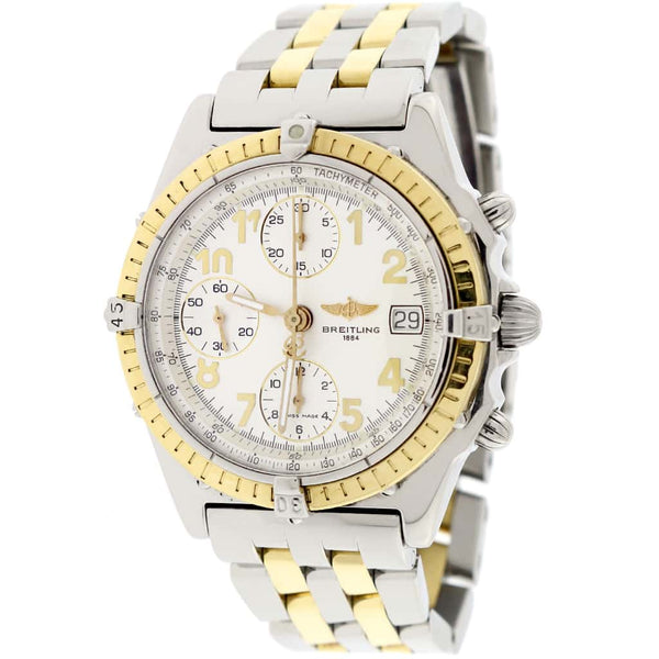 Breitling Chronomat Vitesse 2-Tone Gold/Steel Original Cream Dial 41mm Chronograph Automatic Mens Watch B13050.1