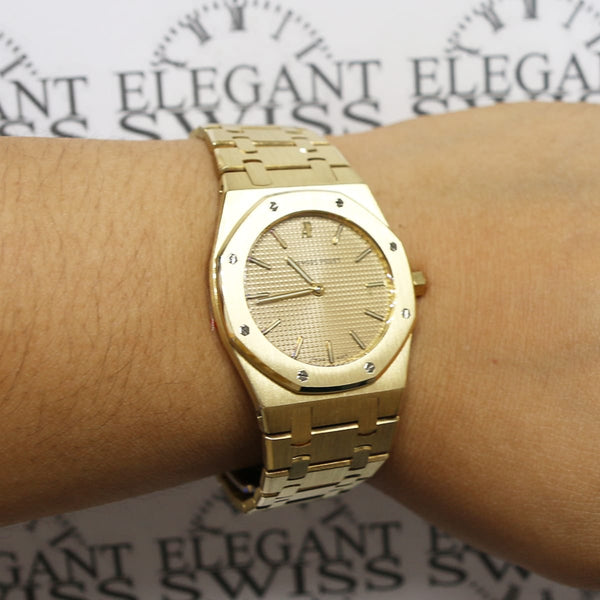 Audemars Piguet Royal Oak 18K Yellow Gold Quartz 33mm Watch