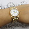 Rolex President Day-Date 18K Yellow Gold Original White Roman Dial Double Quick 36MM Automatic Mens Watch 18238