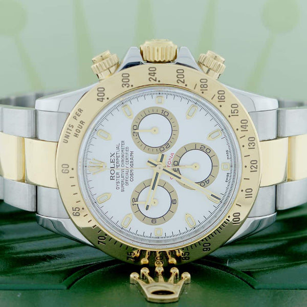 Rolex Cosmograph Daytona 2-Tone 18K Yellow Gold/Steel 40mm Automatic Oyster Mens Watch 116523