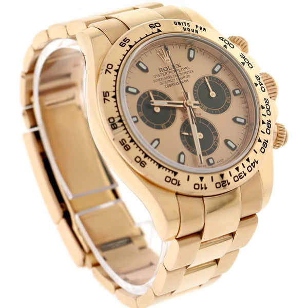 Rolex Cosmograph Daytona 18K Everose Gold Original Pink Dial 40MM Automatic Mens Oyster Rehaut Watch 116505