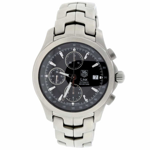 Tag Heuer Link Chronograph Black Dial 42MM Automatic Stainless Steel Mens Watch CJF2110.BA0576