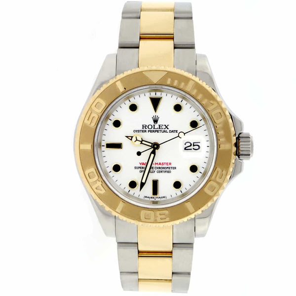 Rolex Yacht-Master Yellow Gold/SS White Dial 40mm Random 16623