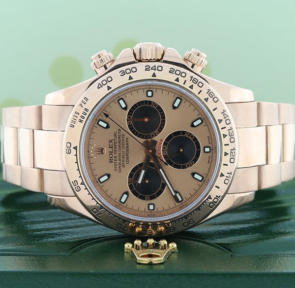 Rolex Cosmograph Daytona 18K Everose Gold Pink Dial 40MM Automatic Mens Watch 116505