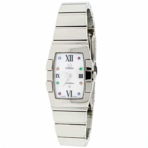Omega Constellation Quadrella Original Mother of Pearl Dial Stainless Steel Ladies Watch 1584.79.00