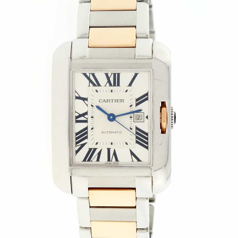 Cartier Tank Anglaise Medium 18K Pink Gold/Stainless Steel Automatic Watch W5310037