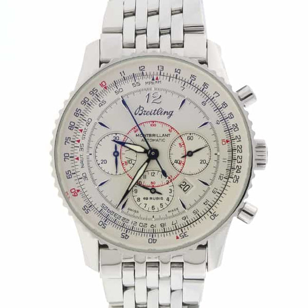 Breitling Navitimer Montbrillant 38MM Chronograph Automatic Stainless Steel Mens Watch A41330