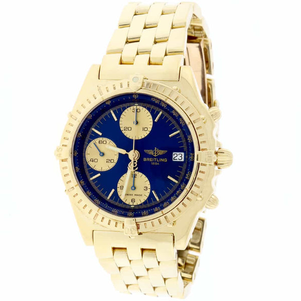 Breitling Windrider Chronomat 18K Yellow Gold Chronograph Automatic 39MM Mens Watch K13048