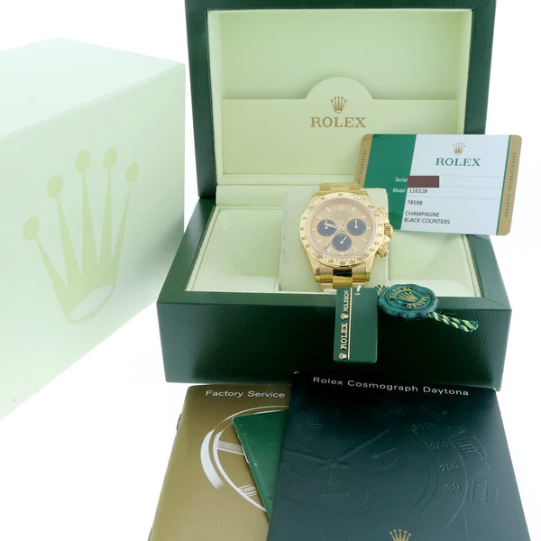 Rolex Cosmograph Daytona 18K Yellow Gold Paul Newman Dial 40MM Automatic Oyster Mens Watch 116528