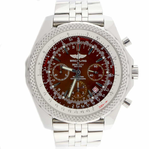 Breitling Bentley Motors Special Edition Original Bronze Dial Chronograph Automatic Stainless Steel Mens Watch A25362