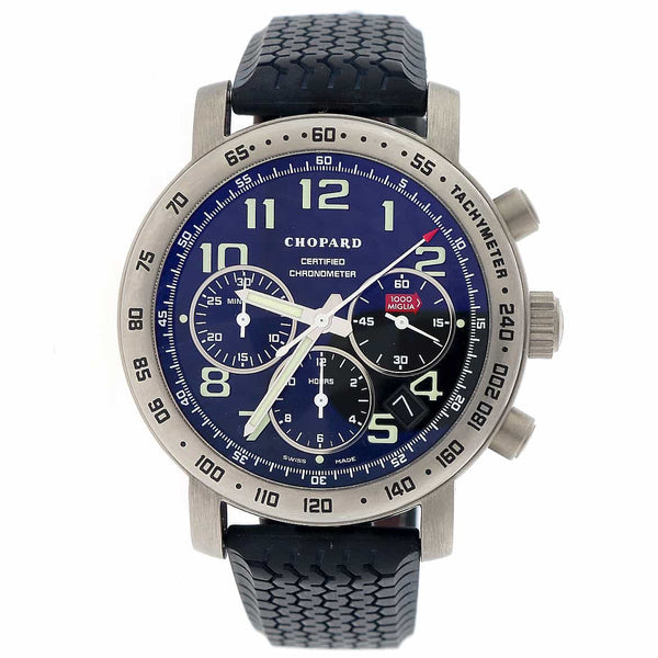 Chopard Millie Miglia Chronograph 40MM Automatic Titanium Mens Watch 168915-3001
