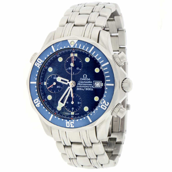 Omega Seamaster Chronograph James Bond 42MM Blue Dial Stainless Steel Automatic Watch 2225.80.00