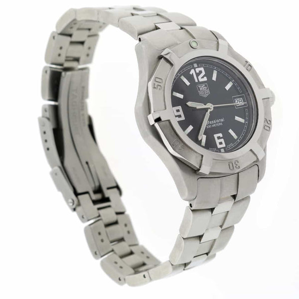 Tag Heuer Professional 38MM Black Dial Stainless Steel Mens Watch WN1110.BA0332