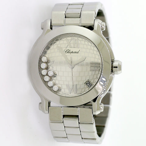 Chopard Happy Sport 35MM Brick Pattern Dial Limited Edition Watch 8475