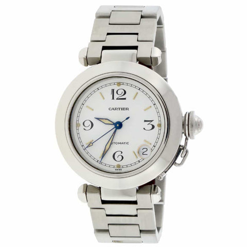 Cartier Pasha C 35mm White Dial Automatic Stainless Steel Watch W31074M7