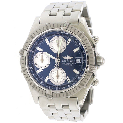 Breitling Chronomat 39MM Blue Dial Watch A13352