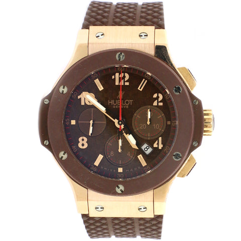 Hublot Big Bang Cappuccino Rose Gold 44MM Chronograph Watch With Box/Paper