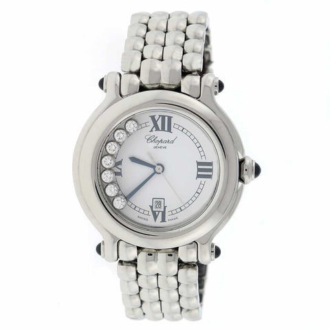 Chopard Happy Sport 7 Floating Diamonds Steel 32MM Watch 278236-3005