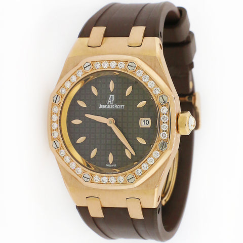 Audemars Piguet Royal Oak Lady 33MM Rose Gold Watch w/Box and Papers