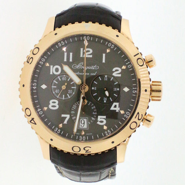 Breguet Transatlantique Type XXI Fly-back Chronograph 43MM Rose Gold Watch 3810/Box & Papers
