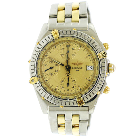 Breitling Chronomat Yellow Gold/Stainless Steel 39mm Automatic Mens Watch B13050.1
